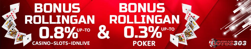 bonus rollingan casino online